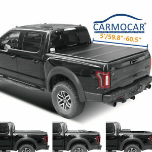 5ft Bed New Hard Tri fold Tonneau Cover For 2016 2019 Toyota Tacoma