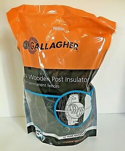 Gallagher W Wood Wooden Post Claw Insulator 25 Pack Black Electric Fence G673044