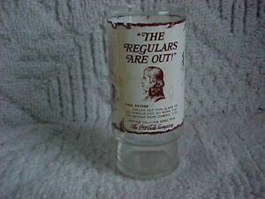 PAUL REVERE HERITAGE Collector Series Coca-Cola Drinking Glass 1976