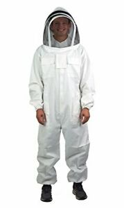Vivo Professional Cotton Full Body Beekeeping Bee Keeping Suit With Veil Hood