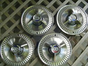 Vintage 1964 64 Ford Galaxie Xl Hubcaps Wheel Covers Center Caps Fomoco Classic