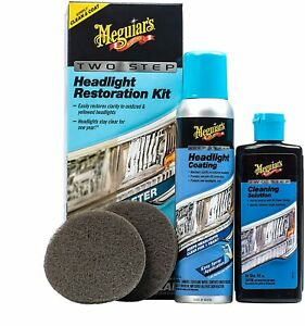 Meguiars 2 Step Headlight Restoration Kit Free Priority Shipping