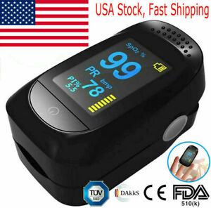 O2 Patient Monitor Finger Pulse Oximeter Blood Oxygen Saturation Spo2 Heart Rate