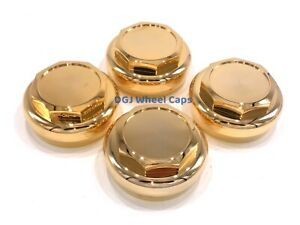 Hex Cut Gold Knock Offs Spinners For Lowrider Wire Wheels