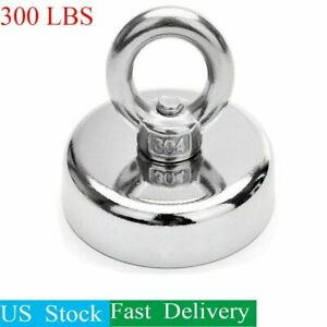 Fishing Magnet Upto 300 Lbs Pull Force Heavy Duty Strong Neodymium Magnet Hunt