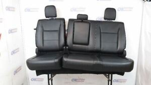 2017 18 19 F250 F350 Super Duty Lariat Rear Seat Black Leather Crew
