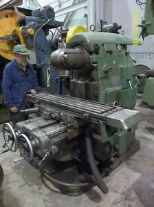 Vertical Milling Machine Universal Head 40 Speeds Feeds Rapid Trav X y Z