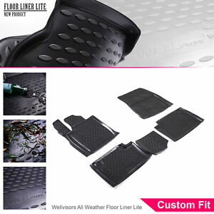 Wellvisors 3d All Weather Floor Mats Lite Black For Jeep Grand Cherokee 11 12