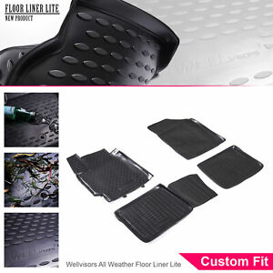 Wellvisors All Weather Floor Mats Liner 4 Pc 2 Row Set For Toyota Camry 07 11