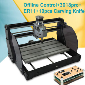 Cnc 3018pro Diy Router Laser Engraving Machine Pcb Wood Carving Milling Drilling