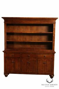 Large Open Bookcase Cupboard With Sideboard Base