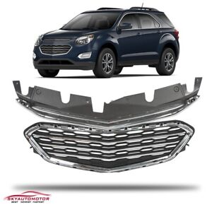 Fits Chevrolet Equinox 2016 2017 Front Upper And Lower Grille Chrome Factory Set