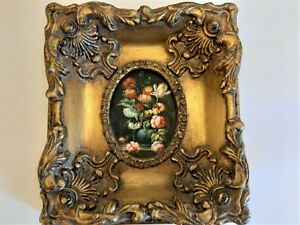 Baroque Picture Frame With Floral Print