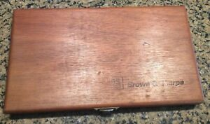 Brown Sharpe Wooden Micrometer Case Box Case Only No Tools