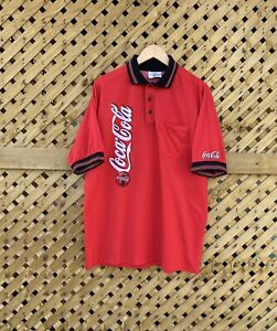Coca Cola Polo Shirt Made In Usa Vintage Large