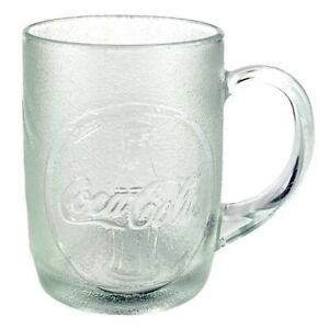 Coca-Cola Mugs Glass 8 oz (7) 1997 Original USA