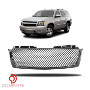 Fit 2007 2014 Chevy Tahoe suburban avalanche Mesh Front Upper Grille Gloss Black