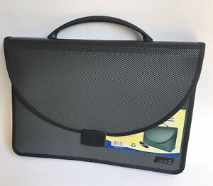 Expanding Letter File Folder Storage Briefcase With Latch