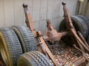 Chevy Truck Rear End Assembly With Disc Brakes 10 Lug Wheels 19 5 Tires