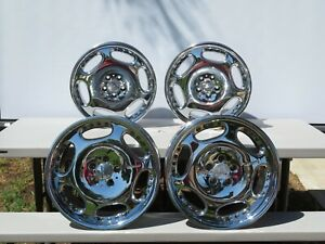 Set Of 4 Mercedes Carlsson Factory Staggered Wheels Rims