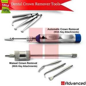 Dental Crown Remover Bridge Removal With Attachments Restoration Instruments