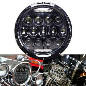 Dot Motorcycle 7 Inch Round Headlight Cree Led Projector For Harley Cafe Racer
