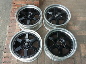 Jdm 17 Ssr Xr4 Xr4z Wheels Rim 5x114 3 Longchamp For R32 300zx 240sx 180sx S13
