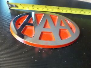 Vintage Nos Aaa License Plate Topper Trunk Bumper Badge Emblem Very Heavy Look