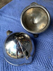 Vintage 1930 s Headlights Cm Hall Depress Beam Packard Lincoln Cadillac Pair