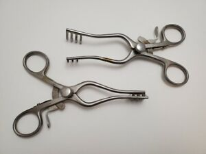Lot Of 2 Karl Storz Surgical 140mm 3 X 4 Weitlaner Mastoid Retractors N 1820