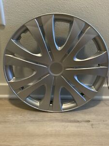 New 2 Piece Set Hub Caps Abs Silver 16 Inch Wheel Cover For Oem Corolla 2009 10