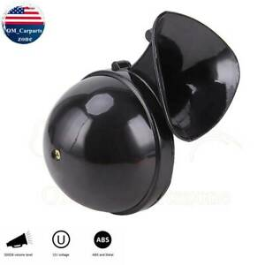 300db 12v Electric Snail Air Horn Loud Sound For Car Motorcycle Truck Boat Black