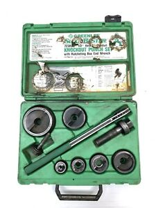 Greenlee 7238sb Slugbuster Knockout Punch Set 1 2 Thur 2 Conduit Tools