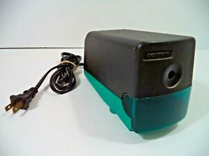 Vintage 90s Boston Electric Pencil Sharpener Green teal Black Model 19 Desktop