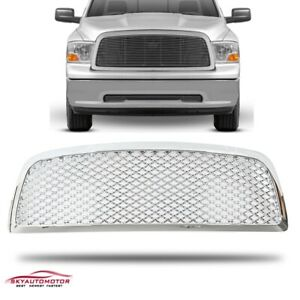 Fit For 2009 2010 2011 2012 Dodge Ram 1500 Front Upper Grille Grille Abs Chrome