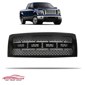 Fits 2009 2014 Ford F150 Front Upper Hood Grille Grill Raptor Style Gloss Black