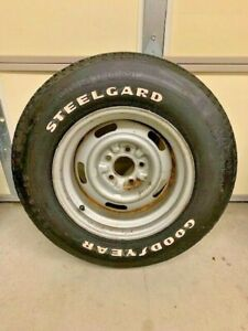 Never Mounted 1978 Corvette Spare Goodyear Steelgard Tire And Az Rally Wheel