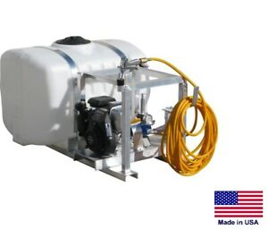 Sprayer Commercial Skid Mounted 7 Gpm 150 Psi 5 Hp 100 Gallon Tank