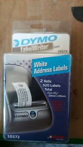 Dymo 30572 Label 1 1 8 x3 1 2 white Address Labels 2 Rolls 520 Labels Total