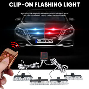 Car 16 Led Red blue blue Police Strobe Flash Light Dash Emergency Warning Lamp