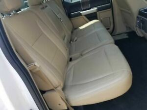 2015 Ford F150 Lariat Crew Cab Rear Seat Tan Leather