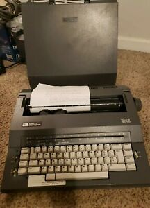 Smith Corona Mark 1 Portable Electric Typewriter Spell Right Dictionary W Case