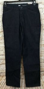 LEE All Day Pants womens 6 relaxed it straight leg rinse wash NEW 4631242 G2 $16.19