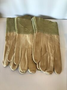 3 Pair New Mens Soft Pigskin Leather Work Gloves Size Medium Suede Safety Cuff
