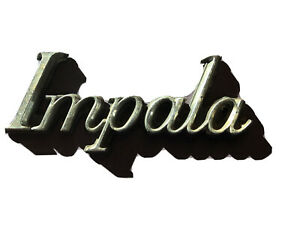 Chevrolet Impala Emblem Script Badge Trim Metal Gm Chrome Chevy