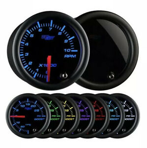 Glowshift Tinted 7 Color Series Tachometer Gauge