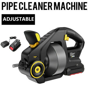 3 4 2 Pipe Drain Cleaning Machine 560rpm Snake Cleaner Machine Alloy Steel