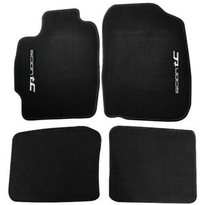For 04 10 Scion Tc Coupe Black Floor Mats Carpet Front Rear Nylon W Emblem