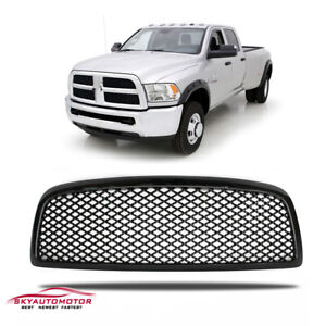 Fit For 2009 2012 Dodge Ram 1500 Front Upper Grille Grill Mesh Gloss Black
