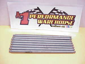 8 Polished 9 330 Pushrods 7 16 Tapered With 5 16 Tips Nascar Sb2 2 Chevy 6